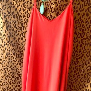 Beautiful Coral dress-great detail